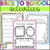 20 Back to School Activities for K, 1 and 2