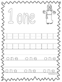 20 Bible Trace the Numbers 1-20 Worksheets. Preschool-KDG. Bible.