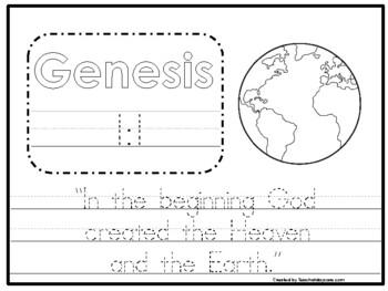 20 Bible Verse Tracing Worksheets. Preschool-Kindergarten