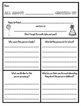 26 Biography Book Report Responses - Works with ANY Biography
