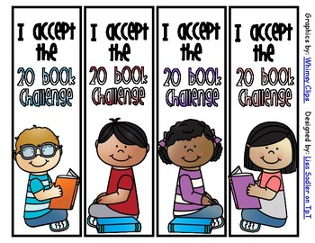 20 Book Challenge Bookmarks