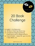 20 Book Challenge Reading Log
