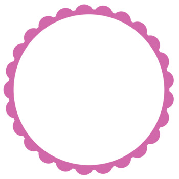 20 Bright Rainbow Scalloped Hollow Circle Frames Clipart