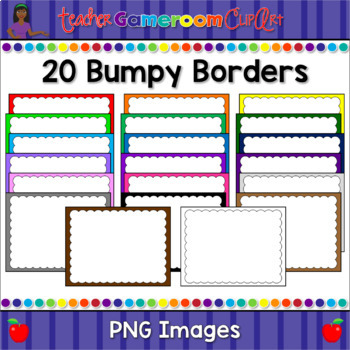 20 Bumpy Borders Design #1 for Commerical/Personal Use