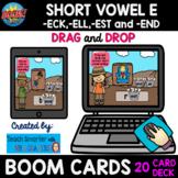20 CARD SHORT VOWEL E  -ECK, -ELL, -END and -EST BOOM cards™