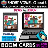 20 CARD SHORT VOWEL O and U - OP, -OCK, -UCK, -UMP DRAG AN