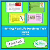 Solving Real-Life Problems Task Cards - CCSS 7EE4