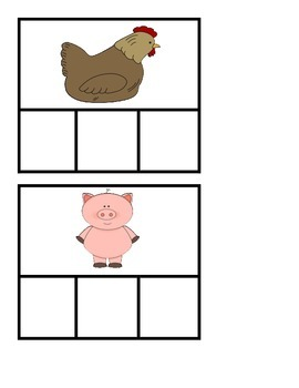 20 CVC Word Building Picture Cards: Teaches Vowels and Spelling Skills