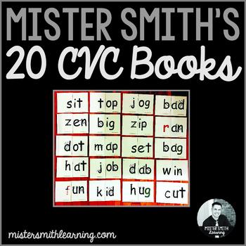 20 CVC Word Family Books