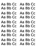20 Capital and lowercase letters Aa-Cc
