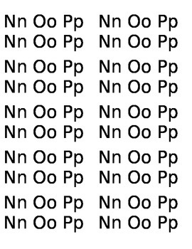 20 Capital and lowercase letters Nn-Pp