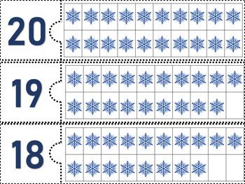20 Casse-tête des nombres 1 à 20 - HIVER  - (French-FSL)