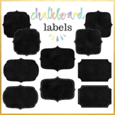 20 Chalkboard Digital Labels Clip Art. With and without wh