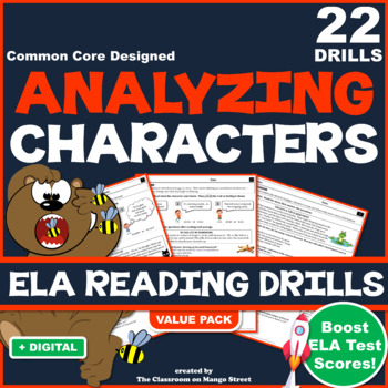 ANALYZING CHARACTERS ELA Reading Comprehension Practice Worksheets (x 20)