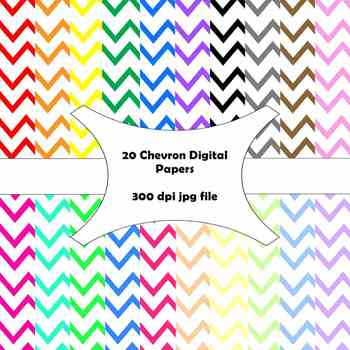 20 Chevron Digital Papers--Personal or Commercial Use