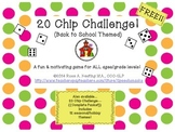 20 Chip Challenge {Back to School}  FREE