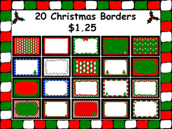 20 Christmas Borders