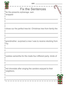 3rd Grade Christmas Math and Reading- ABW1