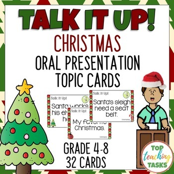 Christmas Speech Topic Cards for Public Speaking Oral Presentations