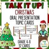 Christmas Speech Topic Cards for Public Speaking Oral Pres