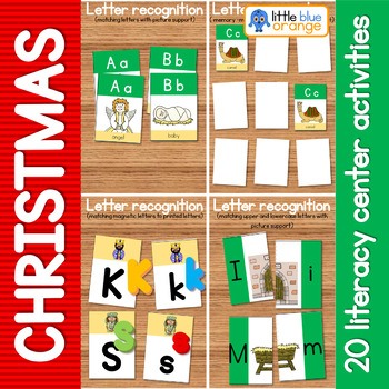 20 Christmas nativity literacy center activities
