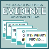 20 Class Posters: Evidence Explanation Stems