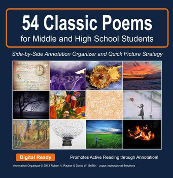 POETRY POWER: 30 Classic Poems w/Annotation Organizer and Quick Picture Strategy