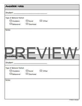 20 Classroom Forms - Classic (not Cutesy!) Design