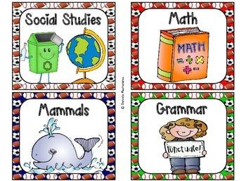 220 Classroom Library Book Bin / Basket Labels {Sports Theme}
