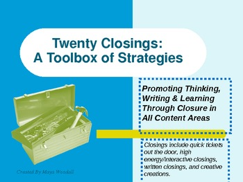 20 Closings: A Toolbox of Strategies