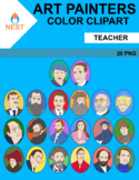 20 Color Art Painters Clipart