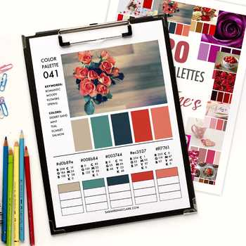 20 Color Palettes for Valentine's Day