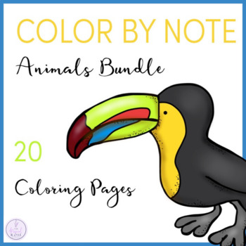 Color by Note Animals Bundle