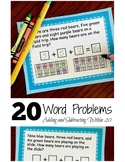 20 Color the Bear Word Problems Within 20-1.OA.A.1
