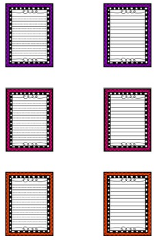20 Colorful Pages of Writing Paper