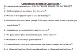 20 Comparative Sentences--Find and Fix the Errors