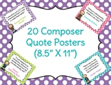 20 Composer Quote Posters