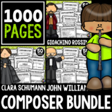 20 Composers Back to School Bundle!  Listening, Coloring,