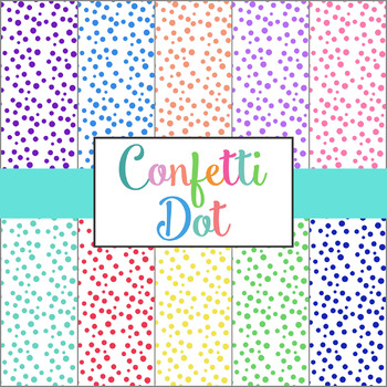 40 Confetti Dot Colored Backgrounds   Polka Dot Digital Paper
