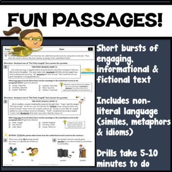 21 Context Clues ELA Reading Skills Practice Worksheets / Printables / Test Prep