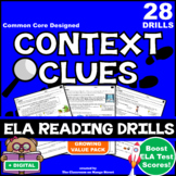 21 Context Clues ELA Reading Skills Practice Worksheets/Test Prep