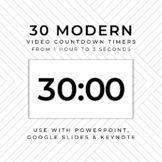 20 MODERN Video Countdown Timers - For PowerPoint, Google