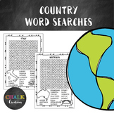20 Country Word Searches