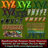 20 Custom Alphabet Letters Sets Sheets PNG PSD Photoshop T