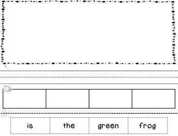 20 Cut & Paste Word Order Sentence Printables (4 words)