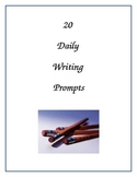 20 Daily Writing Prompts