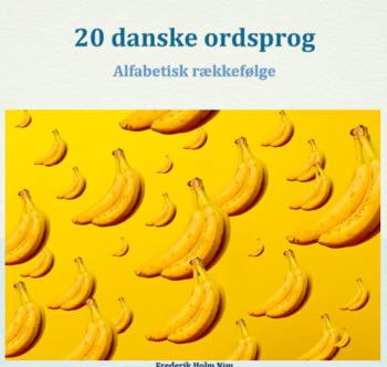 20 Danske ordsprog inkl. opgaveideer