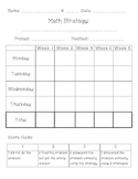 20 Day Math Strategy Pack – Data Notebook Chart, Homework,