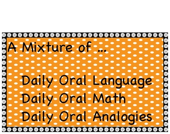 20 Day Sample Sentence Editing, Math and Analogies Problem Solving