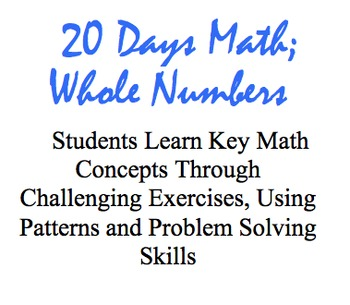 20 Days Math: Whole Numbers